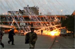 fosforo bianco su Gaza