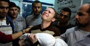 Gaza - Uomo in lacrime