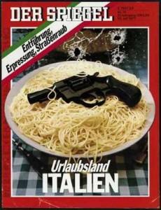 Copertina dello Spiegel-italia-spaghetti