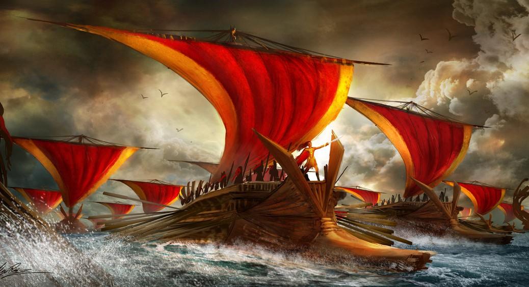 ancient_ship_battle_by_tarrzan-d4usx8m