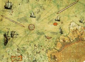 particolare della Mappa Piri Reis