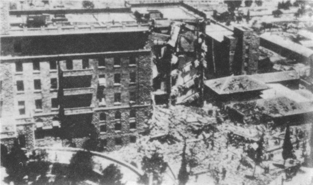Il King David Hotel dopo l'esplosione