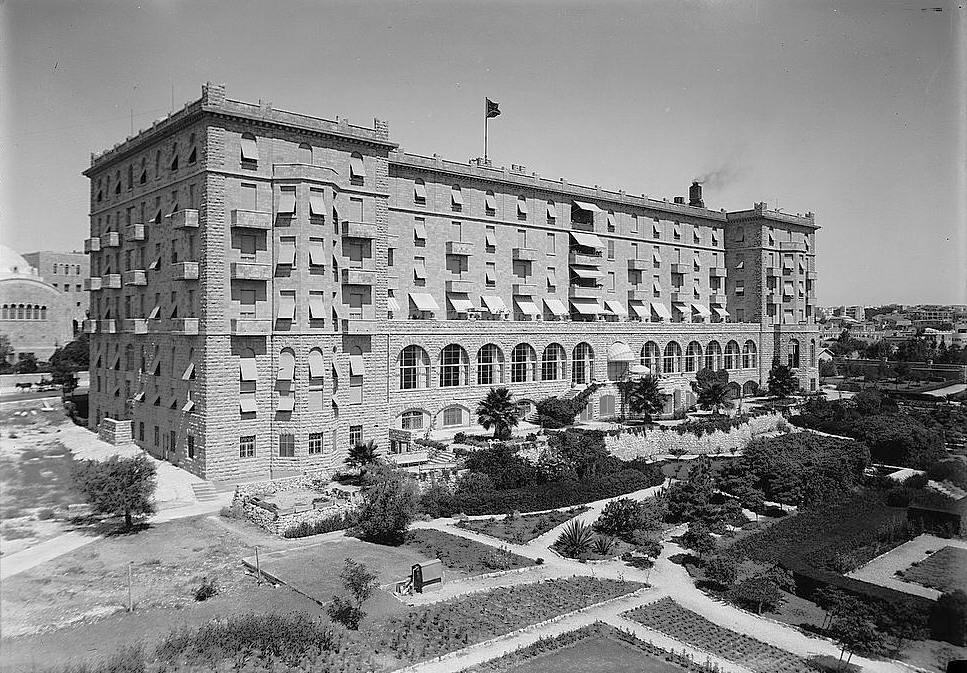 Il King David Hotel prima dell'attentato