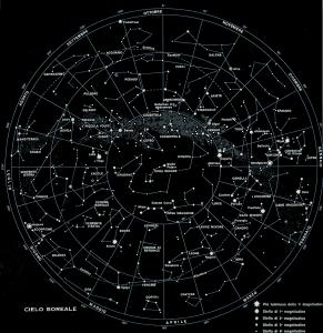 mappa cielo boreale