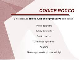 Delitto d'onore nel codice Rocco