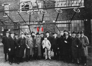 Einstein in visita a Tesla