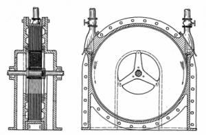 Disegno orginale dal brevetto della Turbina di Tesla