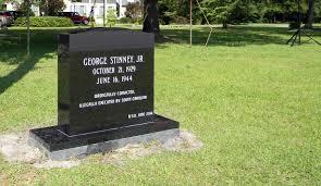 La lapide di Geroge Stinney jr