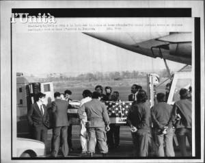 L'arrivo della bara di Leon Klinghoffer