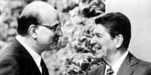 Craxi e Reagan