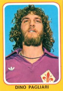 Dino Pagliari con la maglia della Fiorentina