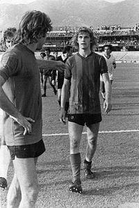 Dino Paglliari con la maglia della Ternana
