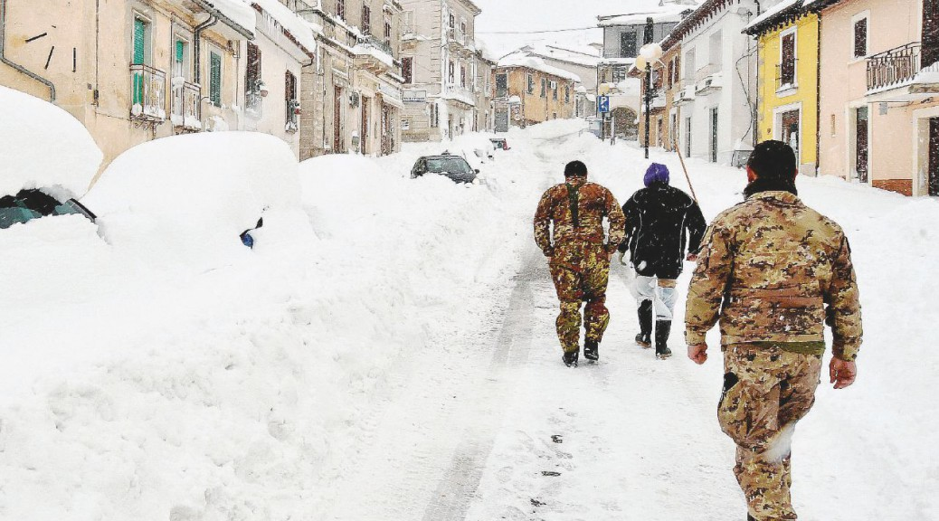 The village of Campotosto (AQ) covered with snow, in Abruzzo region, central Italy, epicenter of today's, Wednesday, new earthquakes, L'Aquila, Jan. 18, 2017. Today three earthquakes hit central Italy in the space of an hour, shaking the same region that suffered a series of deadly quakes last year. The tremors were also felt in Rome. ANSA/ CLAUDIO LATTANZIO