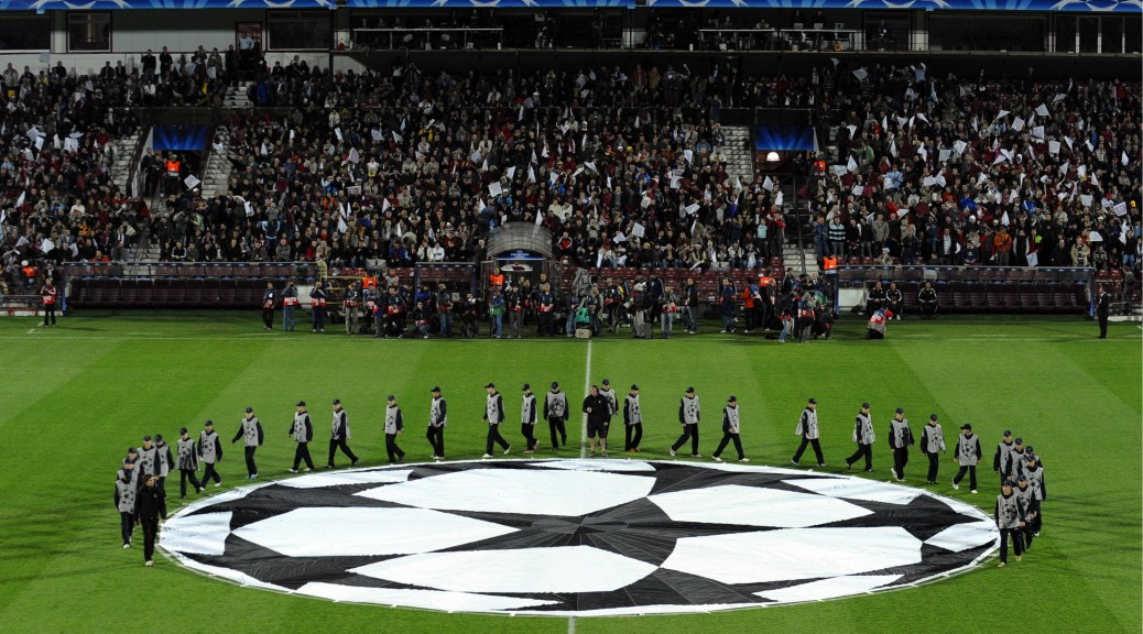 CLUJ-NAPOCA 01/10/2008 - CHAMPIONS LEAGUE INCONTRO CLUJ-NAPOCA - CHELSEA - NELLA FOTO CHAMPIONS LEAGUE LOGO - FOTO VICTOR FRAILE/BACKPAGE/INFOPHOTO