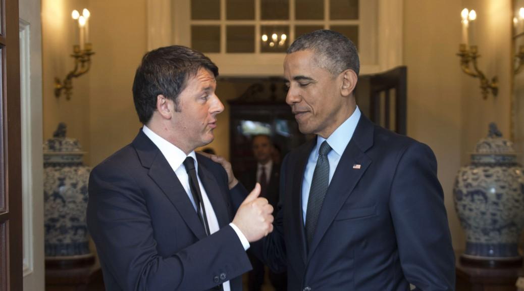 17/04/2015 Washington, il presidente degli Stati Uniti d'America Barack Obama incontra il presidente del Consiglio dei Ministri Matteo Renzi