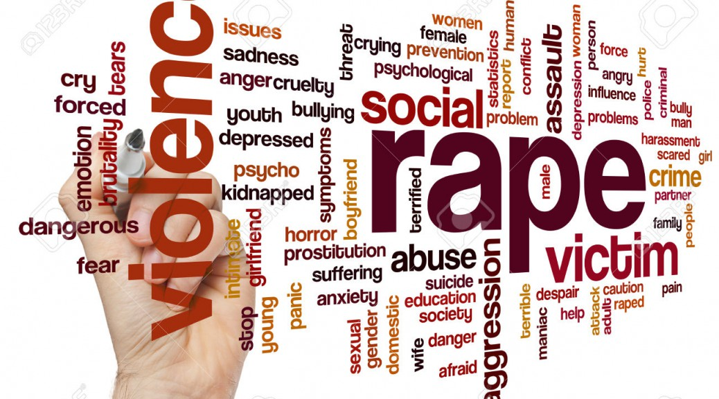 Rape concept word cloud background